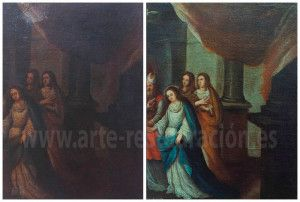 Restauración pintura Desposorios Virgen